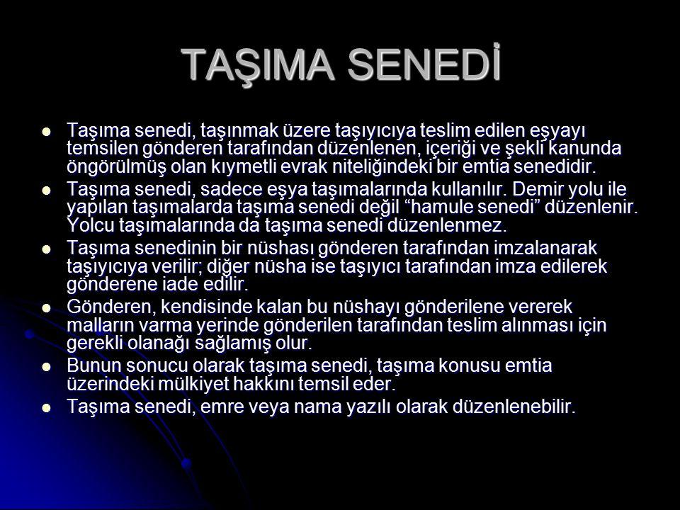 TAŞIMA SENEDİ