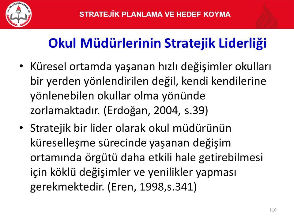 Okul Müdürlerinin Stratejik Liderliği