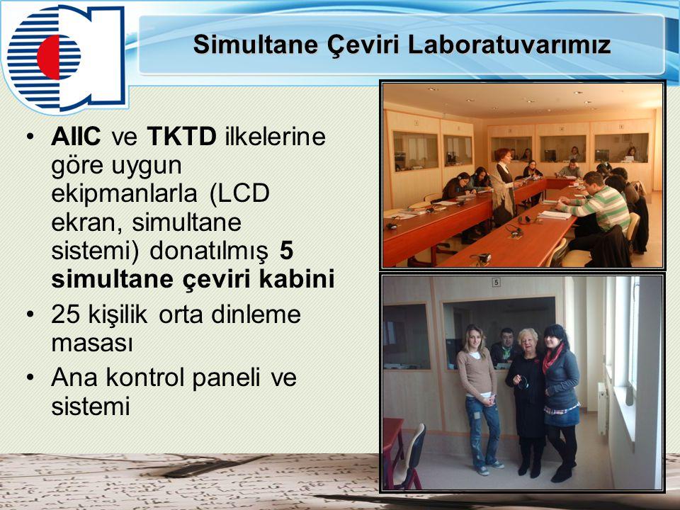 Simultane Çeviri Laboratuvarımız