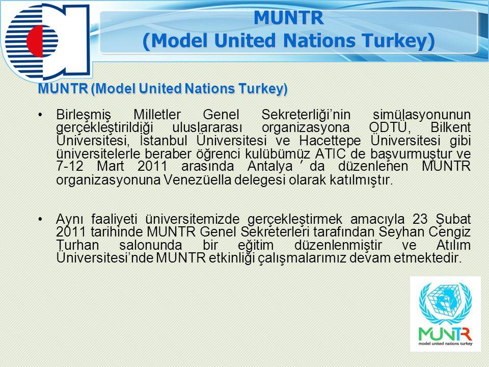 MUNTR (Model United Nations Turkey)