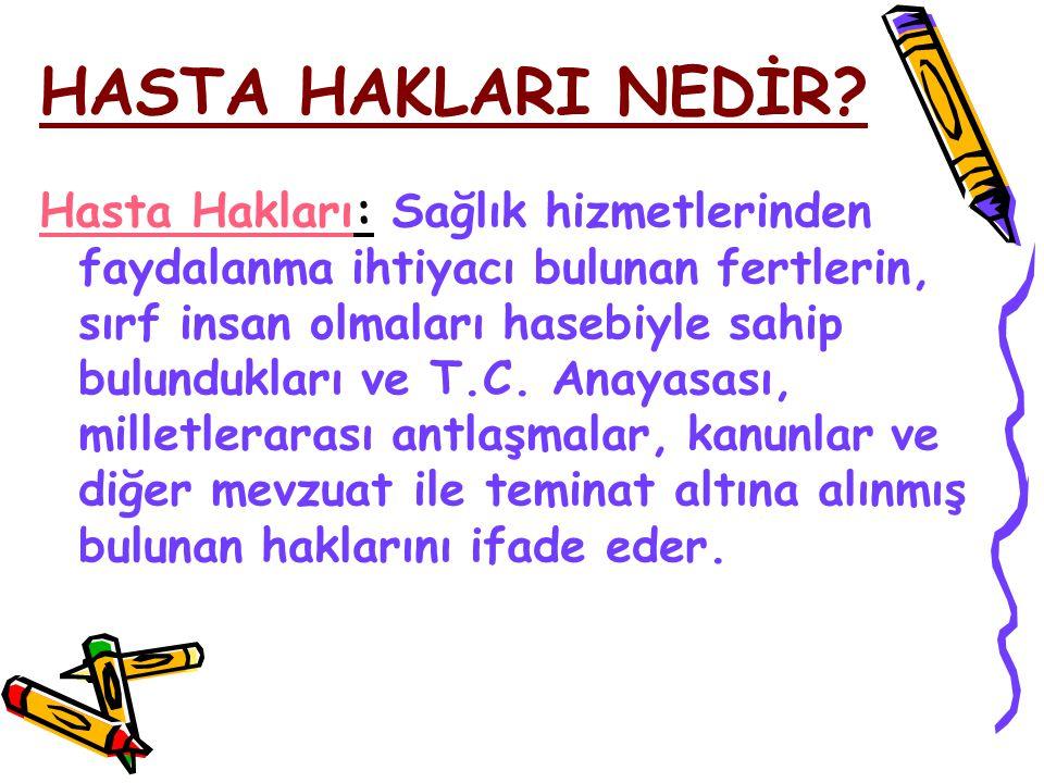 HASTA HAKLARI NEDİR