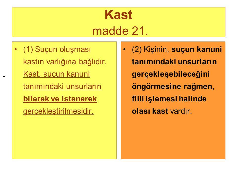 - Kast madde 21.