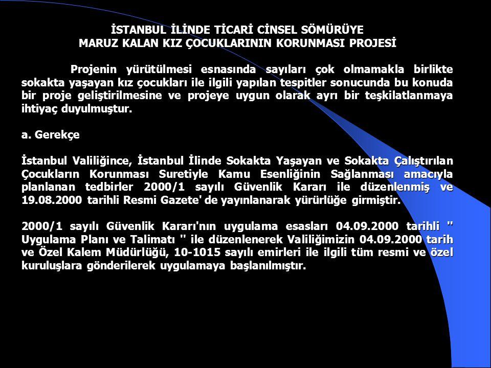 İSTANBUL İLİNDE TİCARİ CİNSEL SÖMÜRÜYE