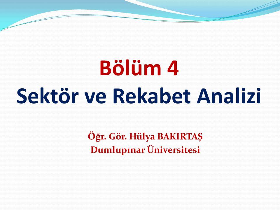 Bölüm 4 Sektör ve Rekabet Analizi