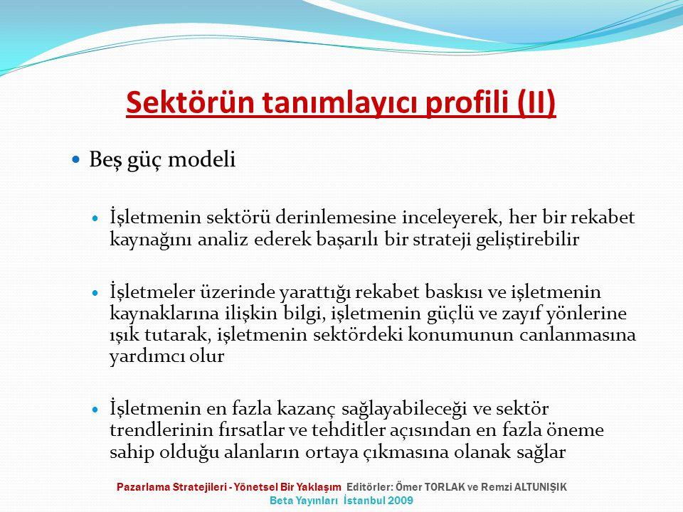 Sektörün tanımlayıcı profili (II)