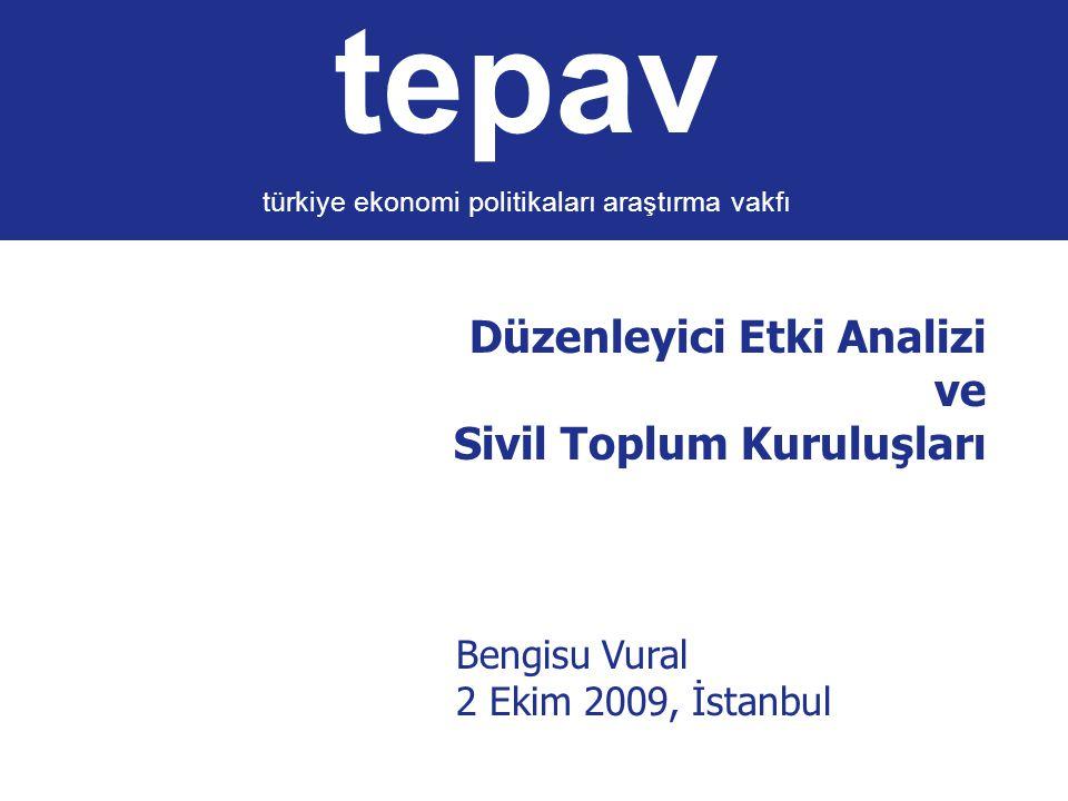 Düzenleyici Etki Analizi ve Sivil Toplum Kuruluşları