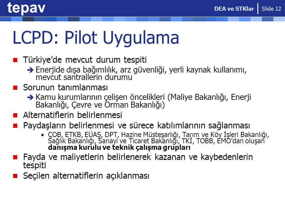 LCPD: Pilot Uygulama Türkiye'de mevcut durum tespiti