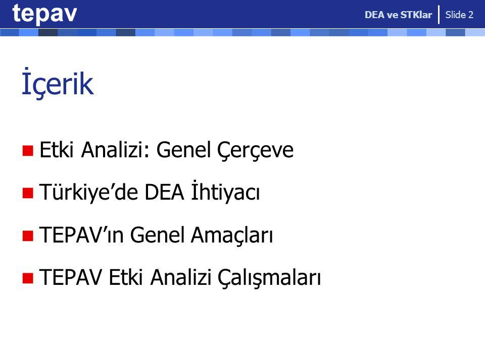 İçerik Etki Analizi: Genel Çerçeve Türkiye'de DEA İhtiyacı