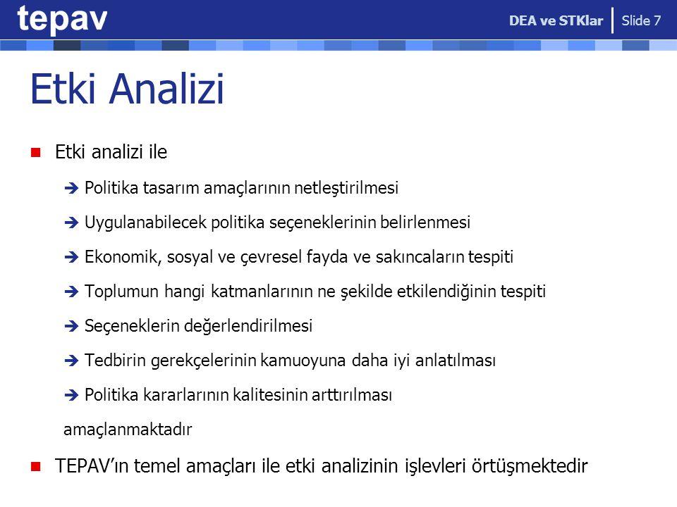 Etki Analizi Etki analizi ile