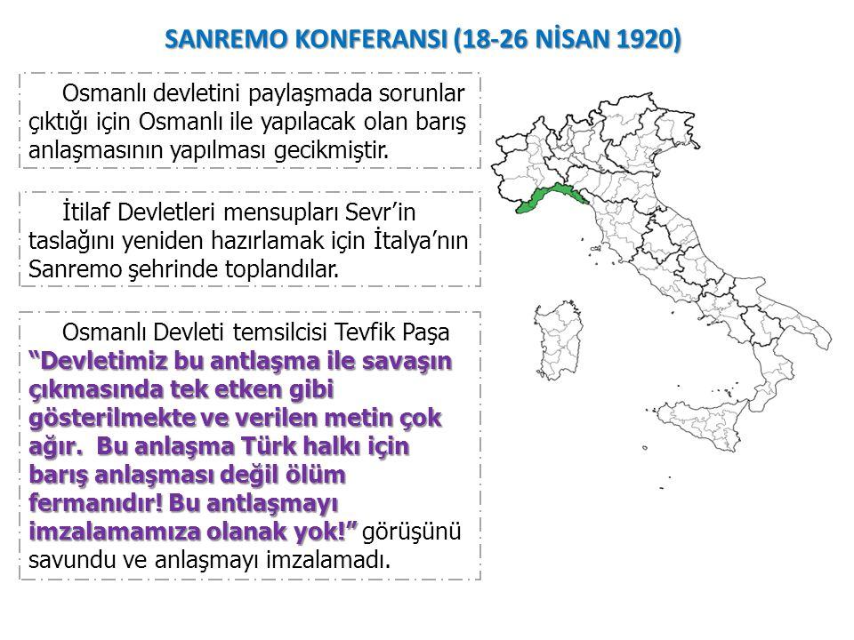 SANREMO KONFERANSI (18-26 NİSAN 1920)