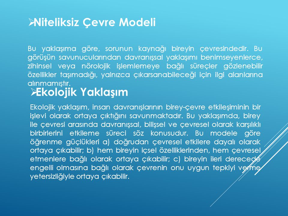 Niteliksiz Çevre Modeli
