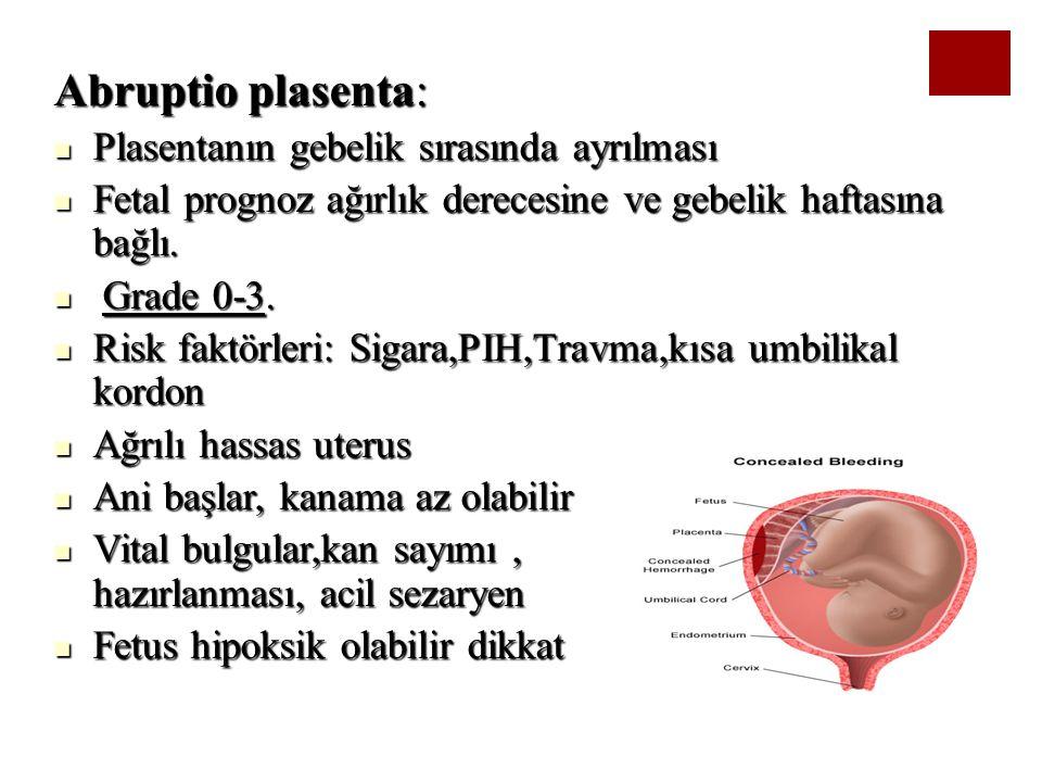 Abruptio plasenta: Plasentanın gebelik sırasında ayrılması