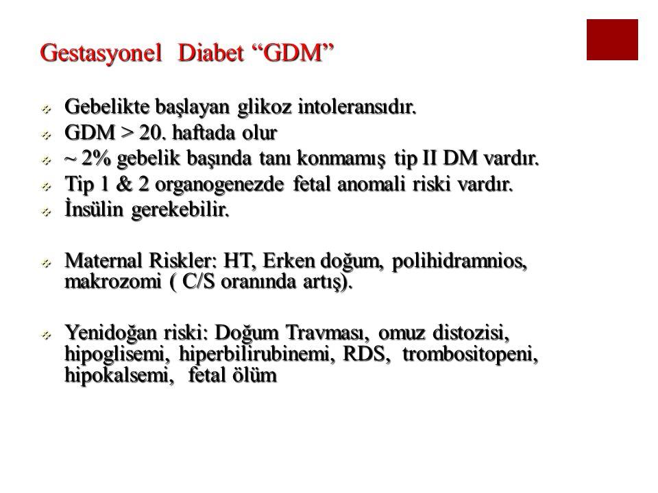 Gestasyonel Diabet GDM