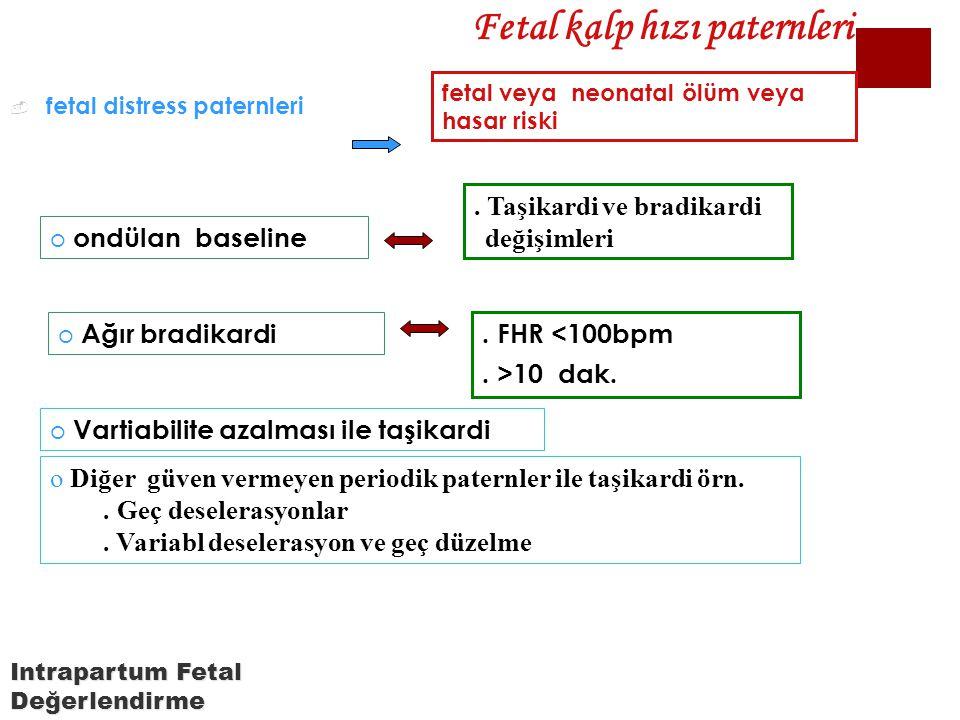 Fetal kalp hızı paternleri