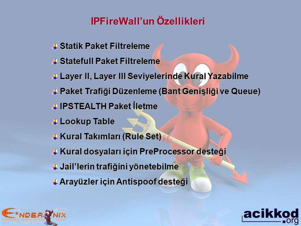 IPFireWall'un Özellikleri