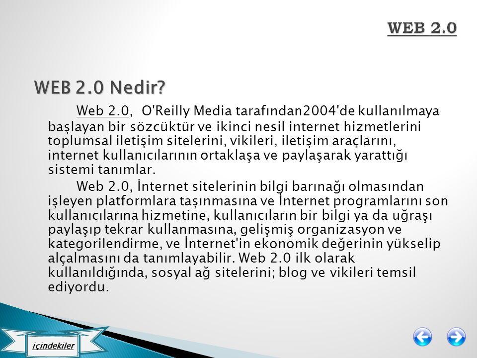 WEB 2.0 WEB 2.0 Nedir