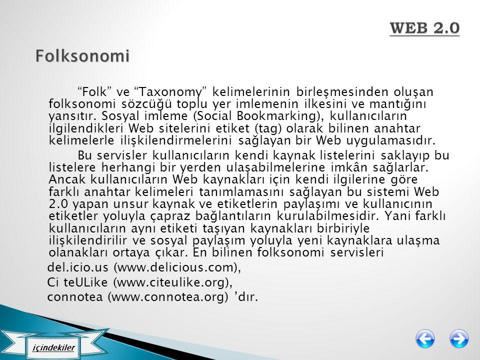 WEB 2.0 Folksonomi.