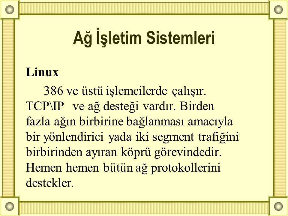 Ağ İşletim Sistemleri Linux