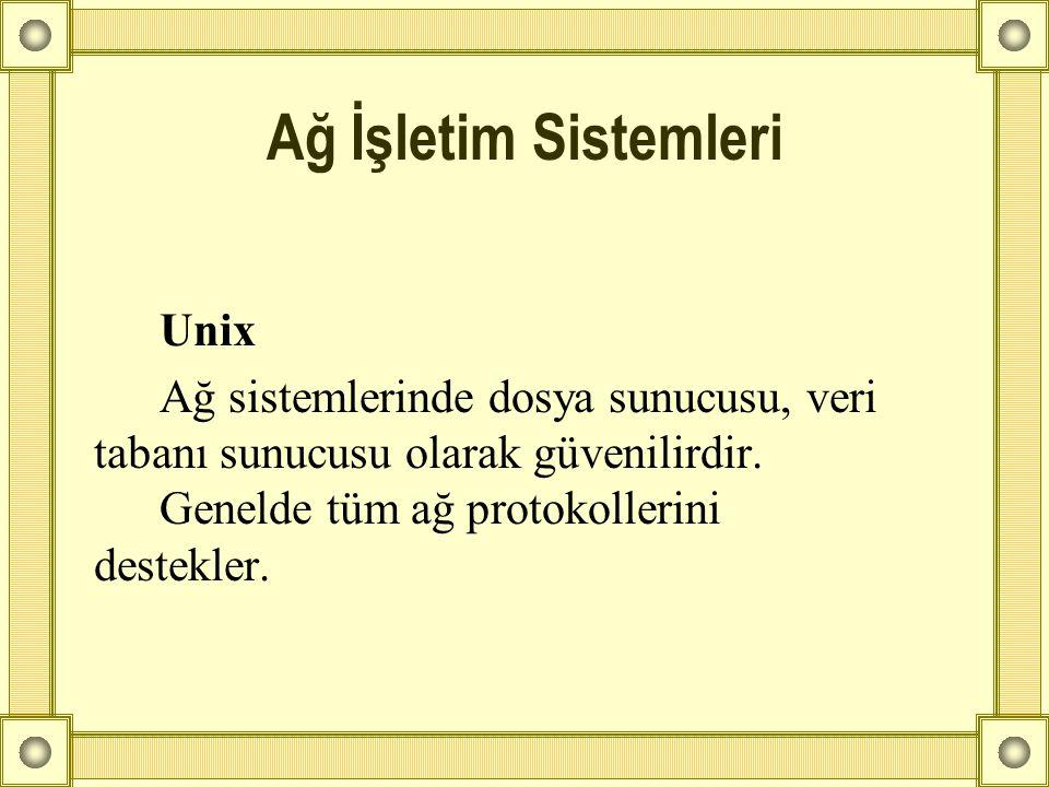 Ağ İşletim Sistemleri Unix