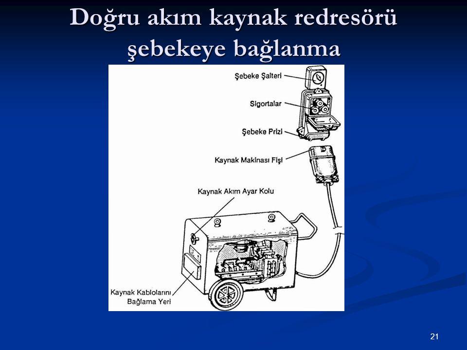 Doğru akım kaynak redresörü şebekeye bağlanma