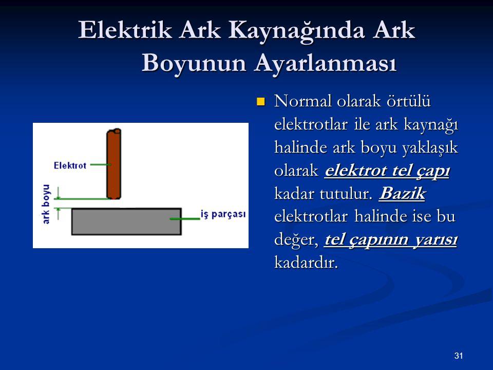 Elektrik Ark Kaynağında Ark Boyunun Ayarlanması