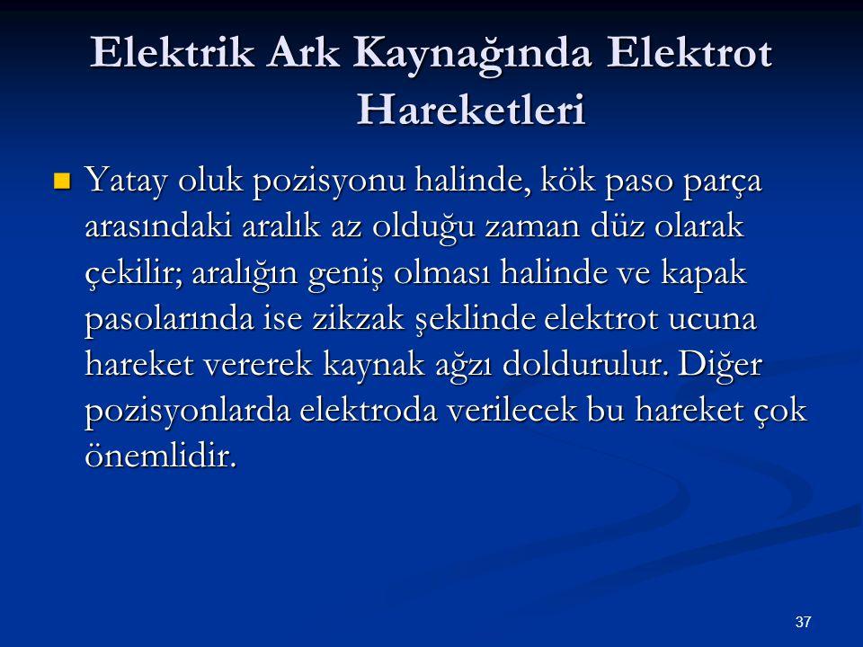 Elektrik Ark Kaynağında Elektrot Hareketleri