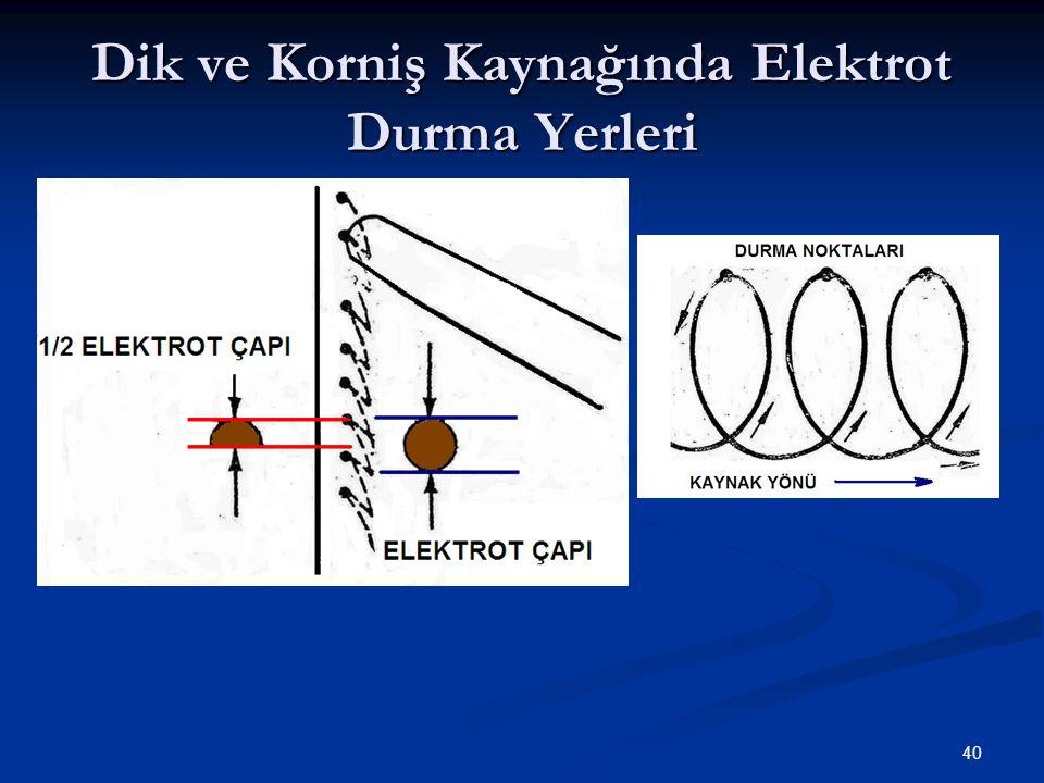 Dik ve Korniş Kaynağında Elektrot Durma Yerleri