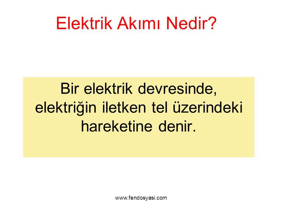 Elektrik Akımı Nedir. Bir elektrik devresinde, elektriğin iletken tel üzerindeki hareketine denir.