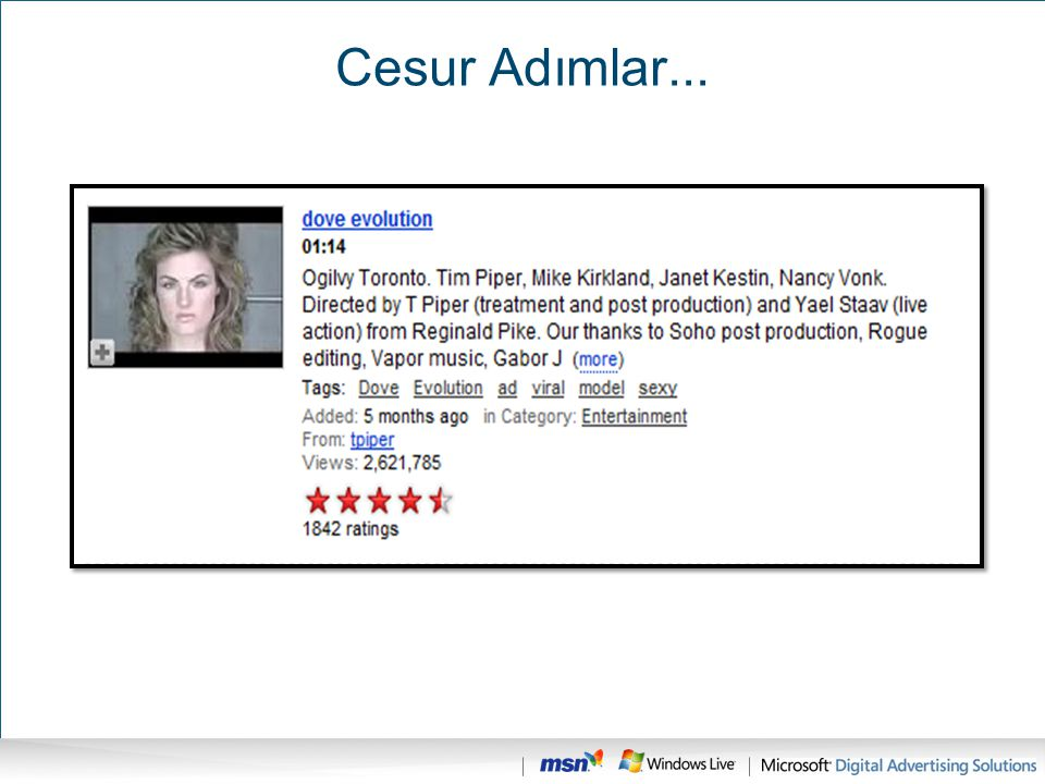 Cesur Adımlar... It's not just a platform for developers, but for consumers, but for advertisers.