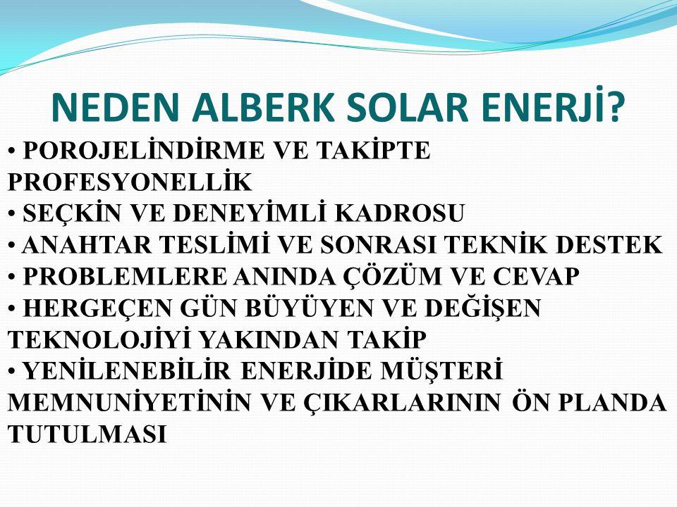 NEDEN ALBERK SOLAR ENERJİ