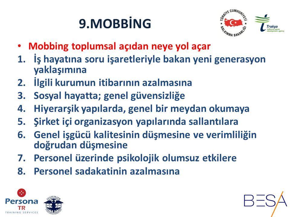 9.MOBBİNG Mobbing toplumsal açıdan neye yol açar