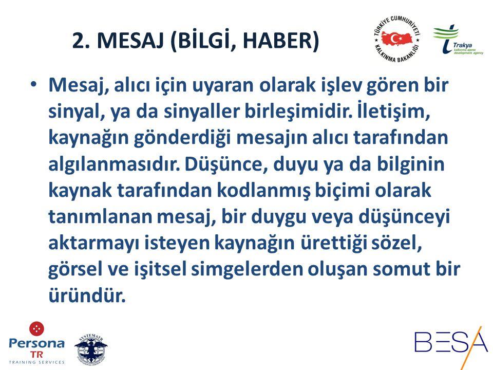 2. MESAJ (BİLGİ, HABER)