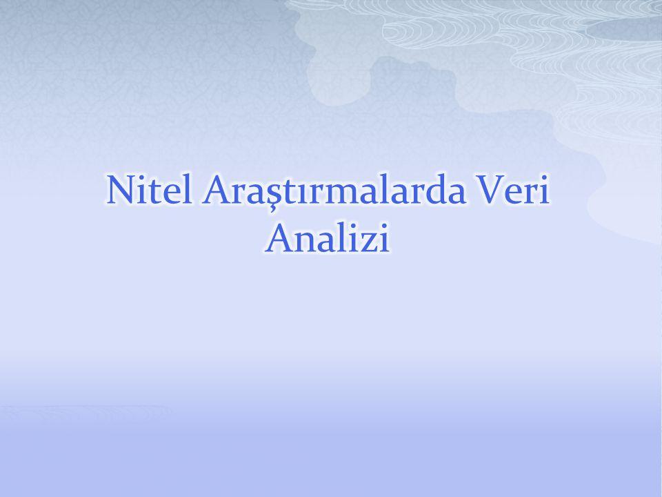 Nitel Araştırmalarda Veri Analizi