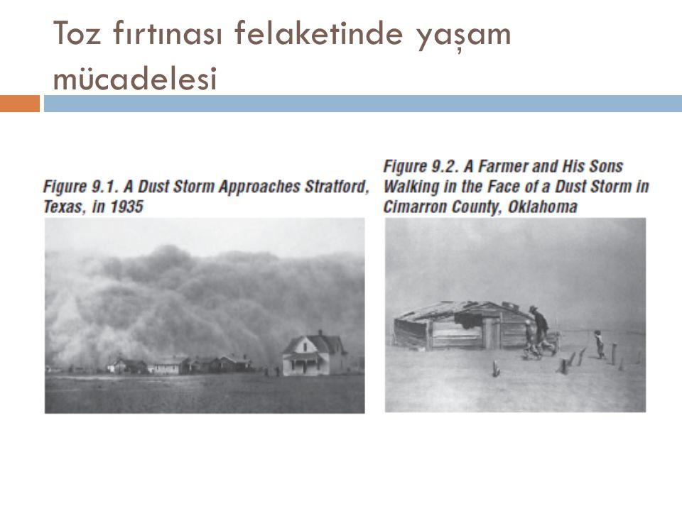 Toz fırtınası felaketinde yaşam mücadelesi