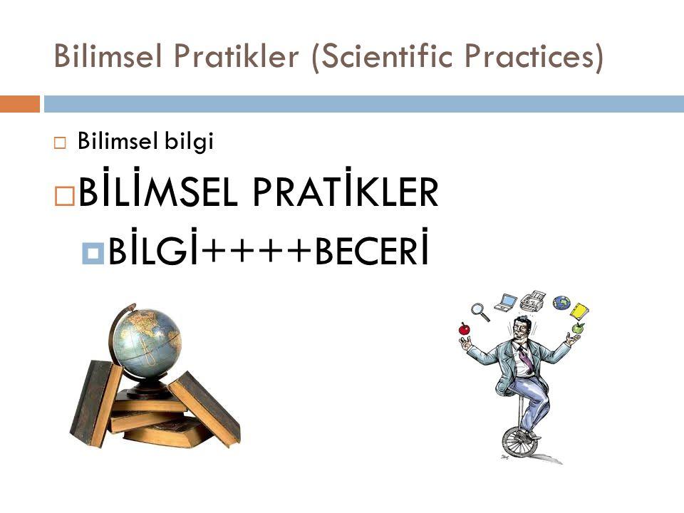 Bilimsel Pratikler (Scientific Practices)