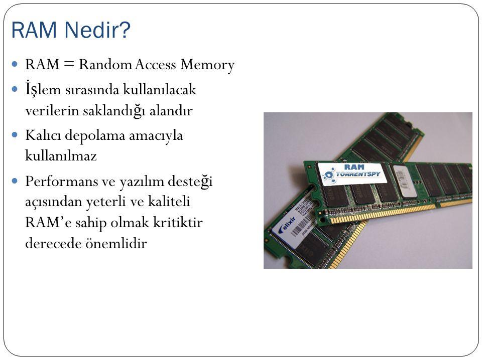 RAM Nedir RAM = Random Access Memory