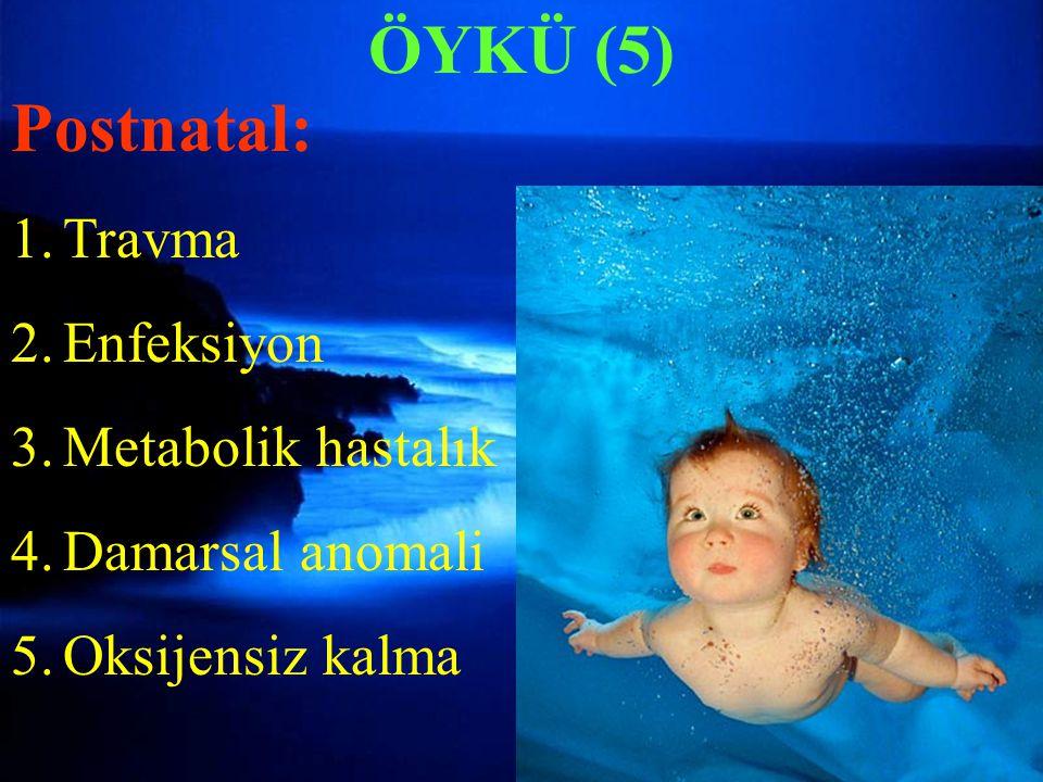 ÖYKÜ (5) ÖYKÜ (5) Postnatal: Travma Enfeksiyon Metabolik hastalık