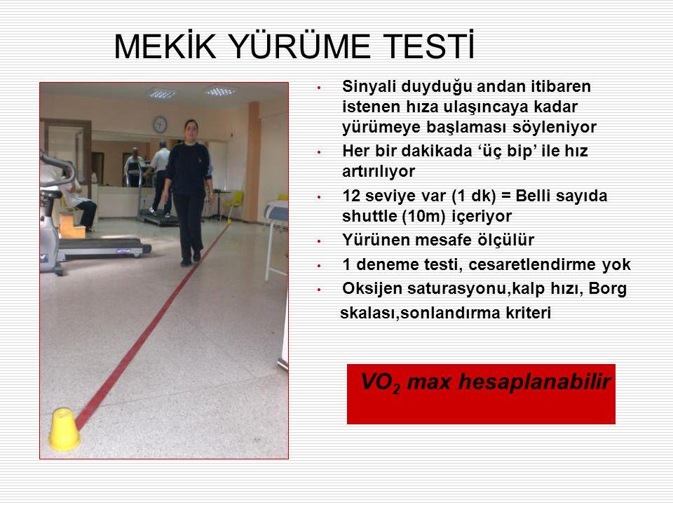 MEKİK YÜRÜME TESTİ VO2 max hesaplanabilir
