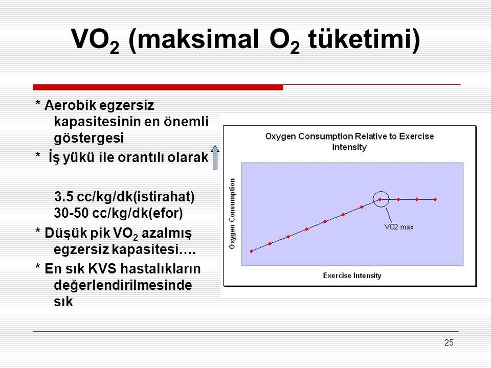 VO2 (maksimal O2 tüketimi)