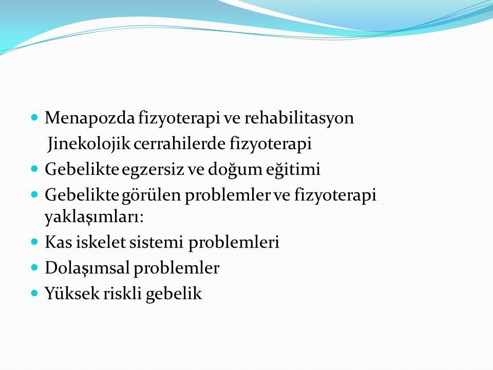Menapozda fizyoterapi ve rehabilitasyon