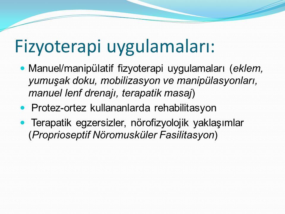Fizyoterapi uygulamaları: