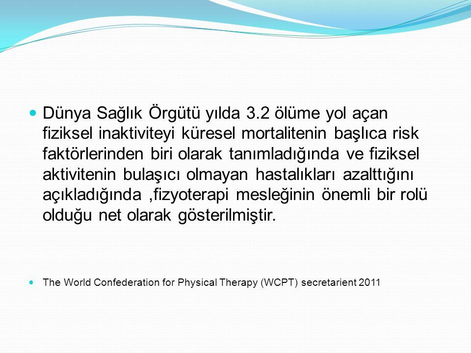 Dünya Sağlık Örgütü yılda 3