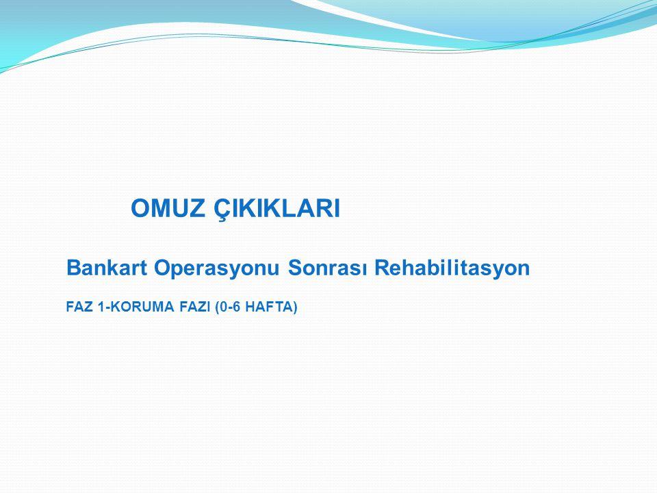 OMUZ ÇIKIKLARI Bankart Operasyonu Sonrası Rehabilitasyon