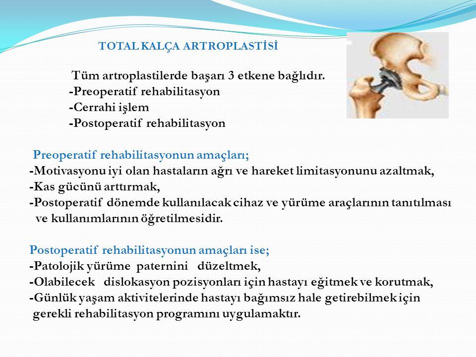 -Preoperatif rehabilitasyon -Cerrahi işlem