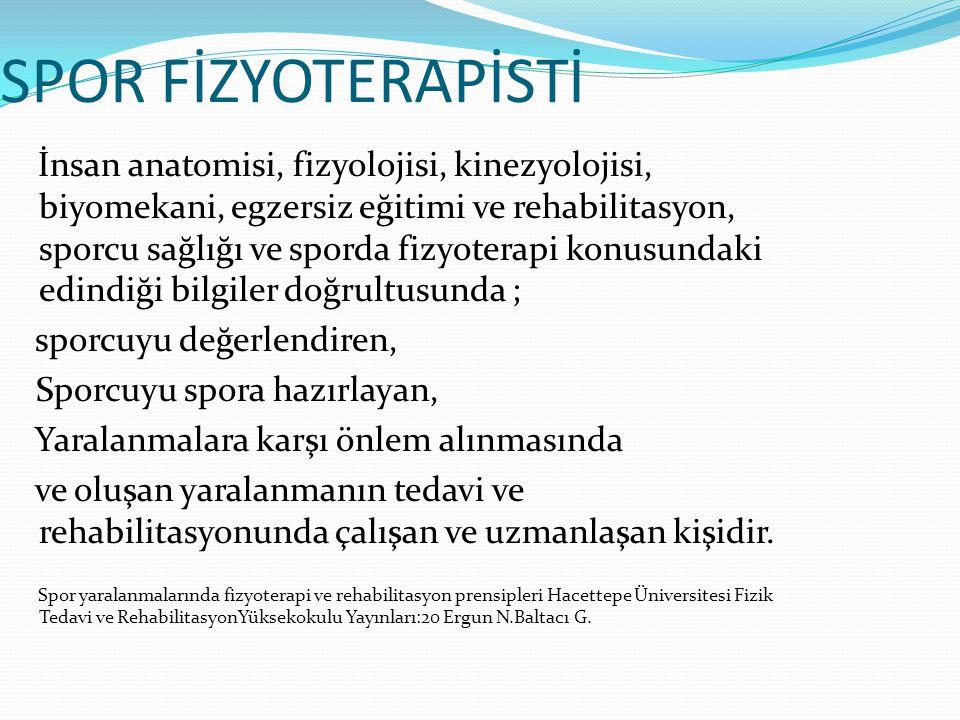 SPOR FİZYOTERAPİSTİ