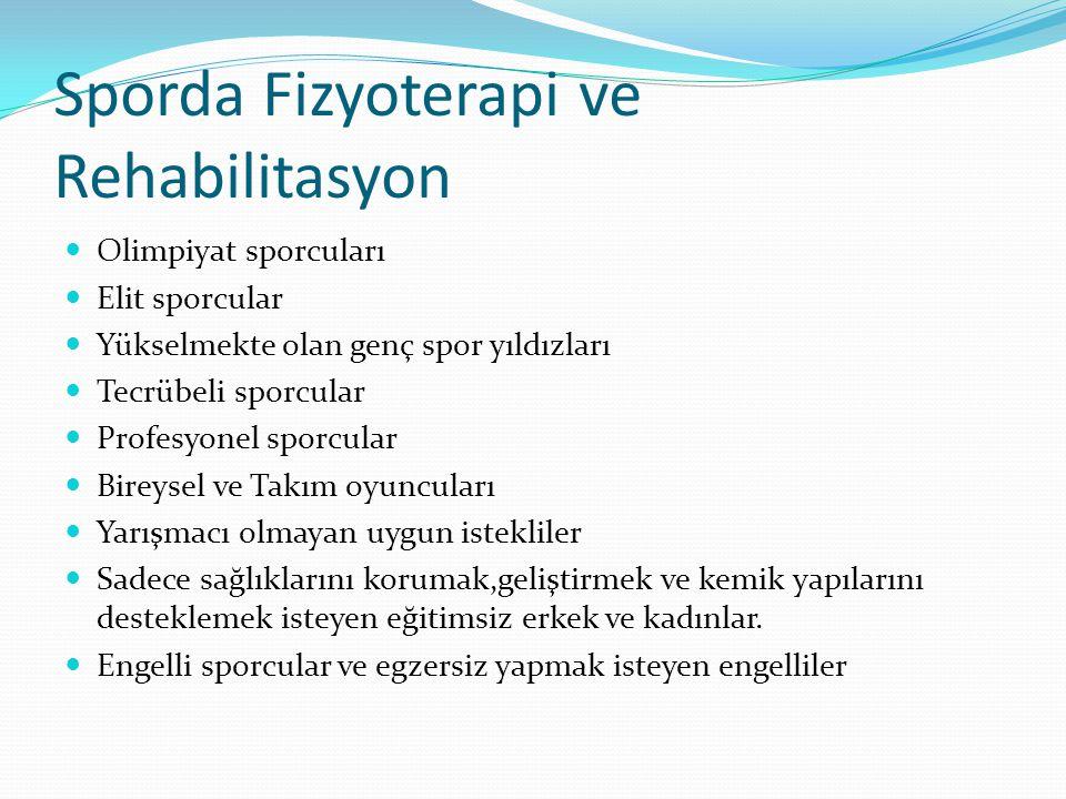 Sporda Fizyoterapi ve Rehabilitasyon