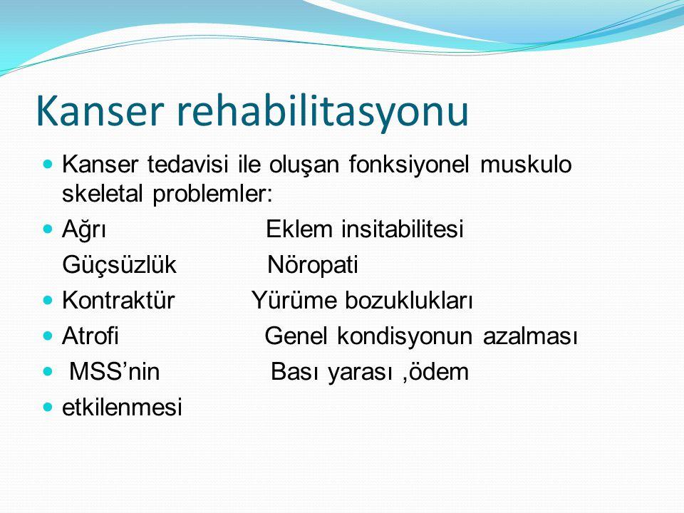 Kanser rehabilitasyonu