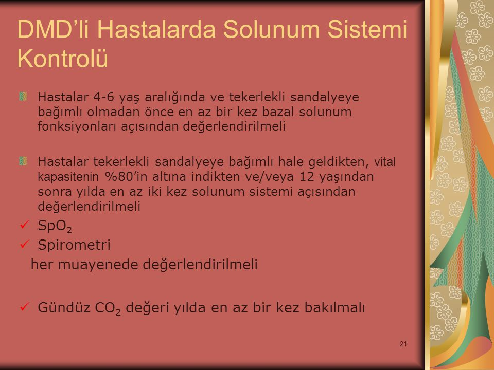 DMD'li Hastalarda Solunum Sistemi Kontrolü