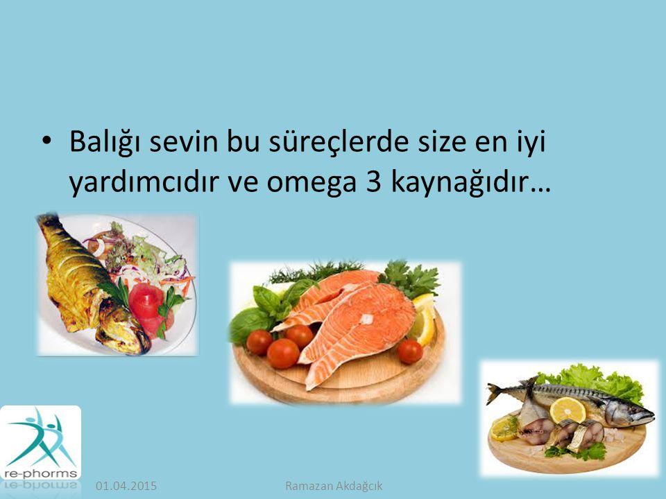 Balığı sevin bu süreçlerde size en iyi yardımcıdır ve omega 3 kaynağıdır…