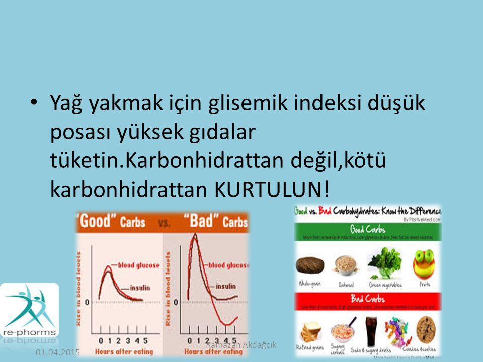 Yağ yakmak için glisemik indeksi düşük posası yüksek gıdalar tüketin
